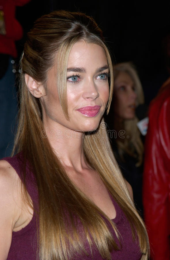 Denise Richards. Actress DENISE RICHARDS at the Hollywood premiere of her new movie Valentine. 01FEB2001. Paul Smith/Featureflash royalty free stock photo