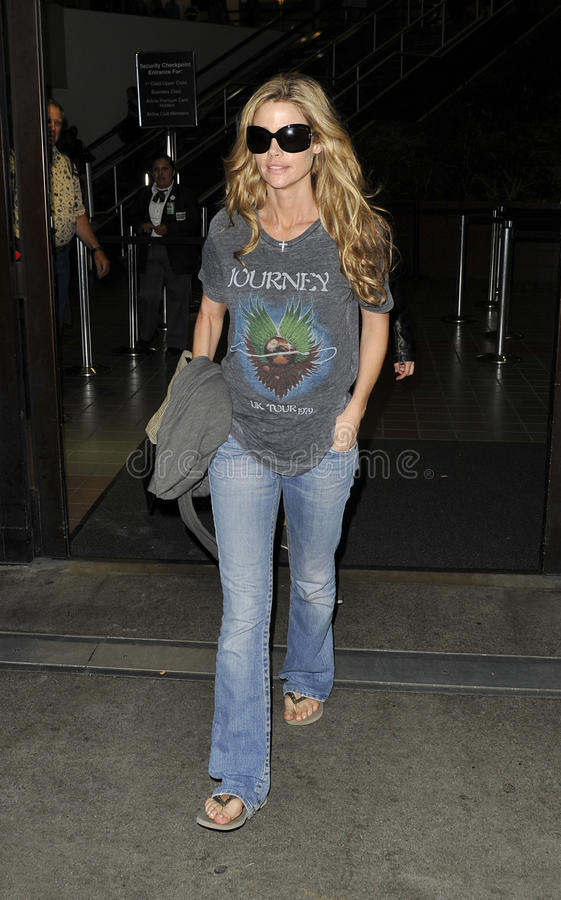 Actress Denise Richards is seen at LAX stock photo