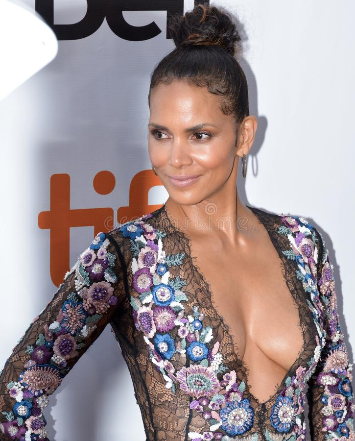 Halle Berry at the `Kings` premiere stock photography