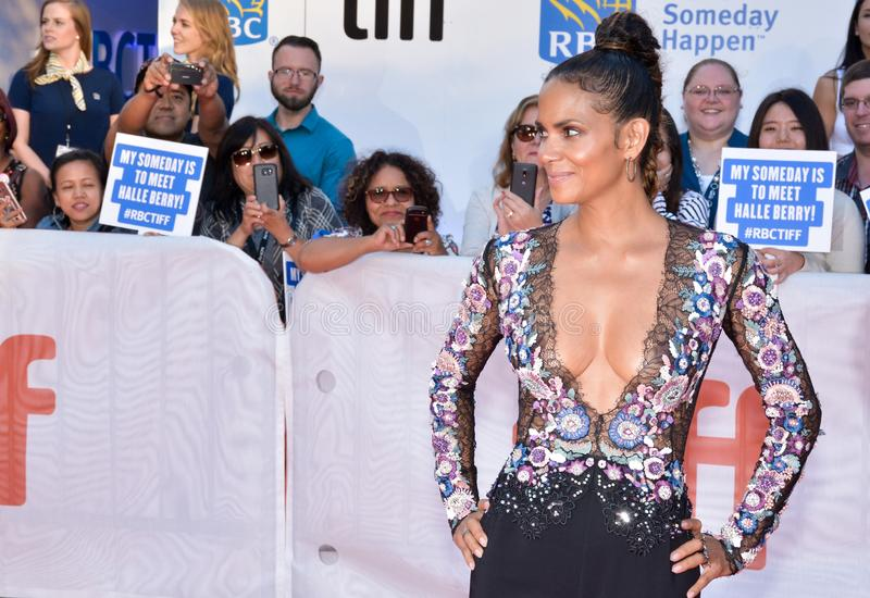 Halle Berry at the `Kings` premiere royalty free stock images