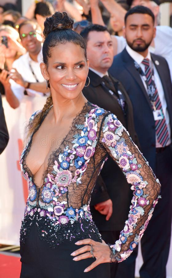 Halle Berry at the `Kings` premiere royalty free stock image