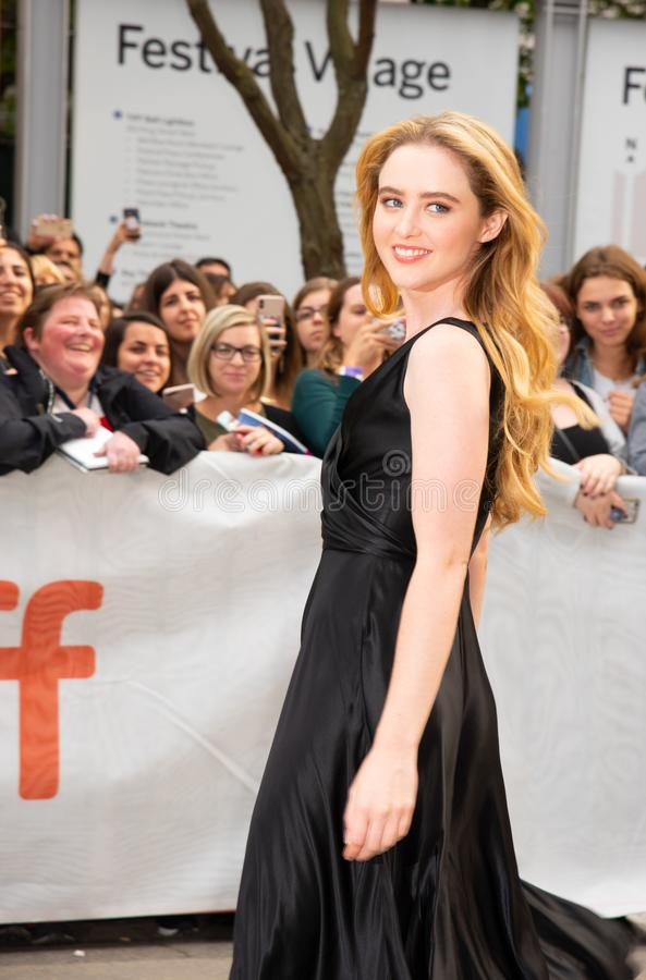 Actress Kathryn Newton at premiere of Ben Is Back at tiff2018 Toronto international film festival. Is yearly festival with the top films and movie stars on the stock photo
