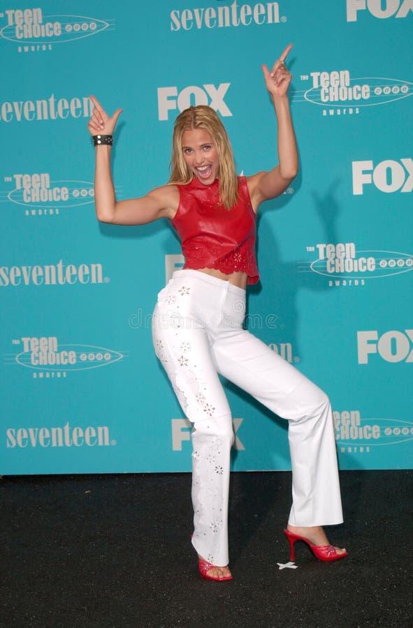 Leslie Bibb. Actress LESLIE BIBB (Popular) at the Teen Choice Awards in Santa Monica, California royalty free stock photos