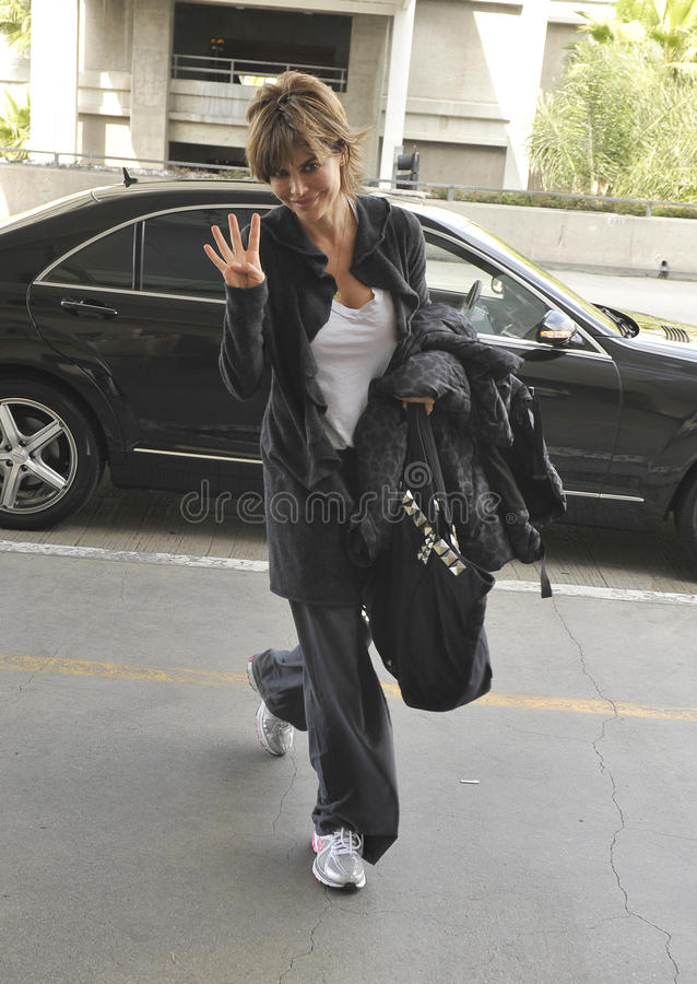 Actress Lisa Rinna is seen at LAX royalty free stock photos