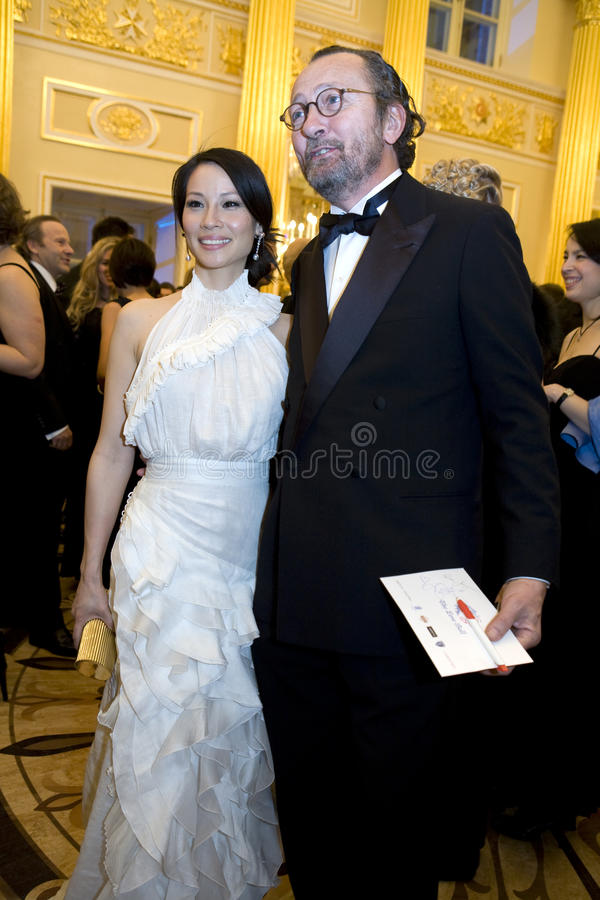 Actress Lucy Liu royalty free stock image