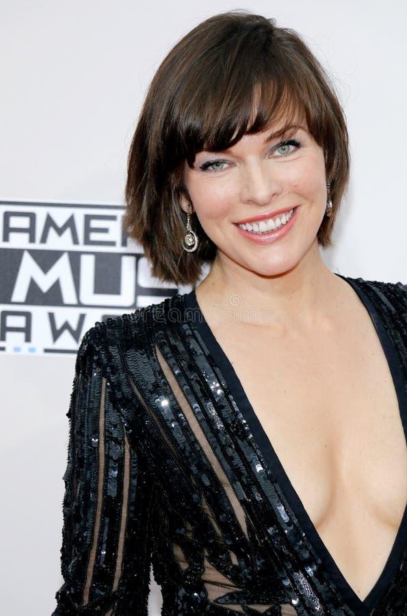 Actress Milla Jovovich royalty free stock image