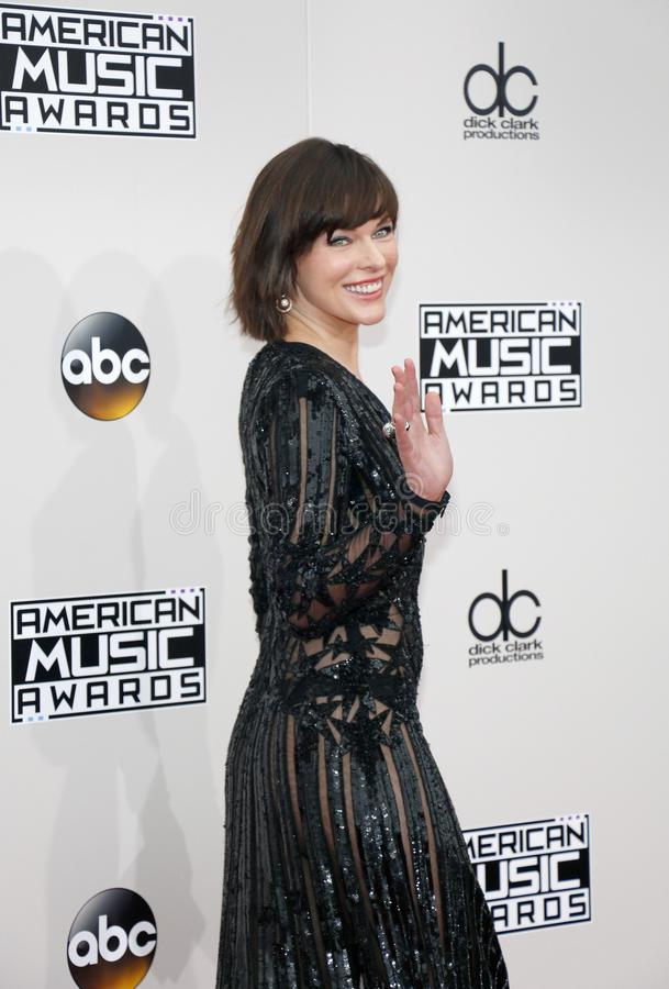 Actress Milla Jovovich stock images