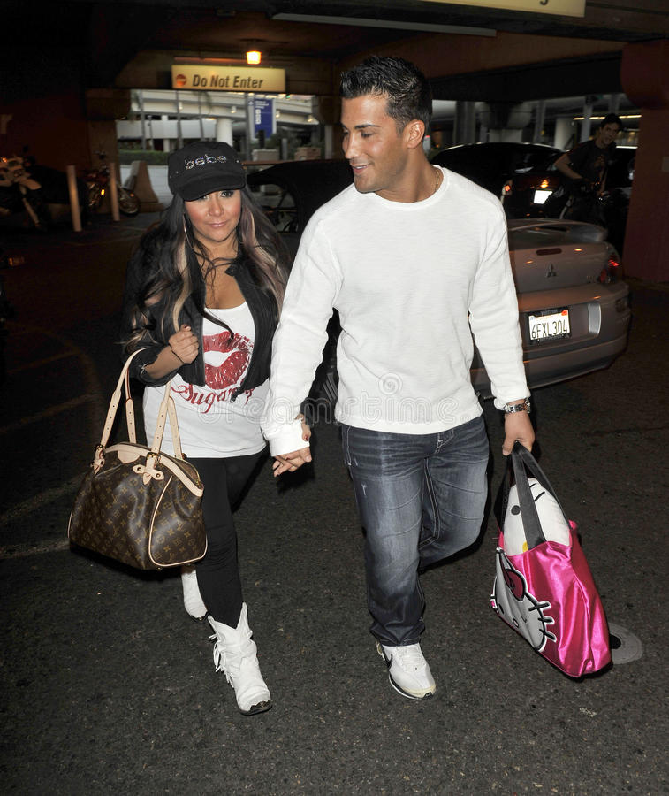 Download Actress Snooki From Jershey Shore At LAX Editorial Stock Image - Image: 19135249