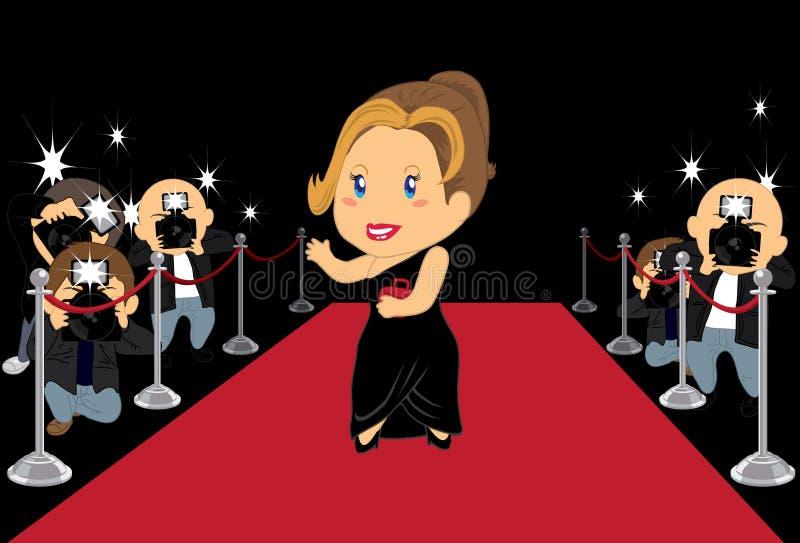 Actrice 2 van Hollywood stock illustratie