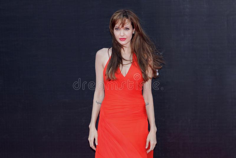 Actrice Angelina Jolie stock foto