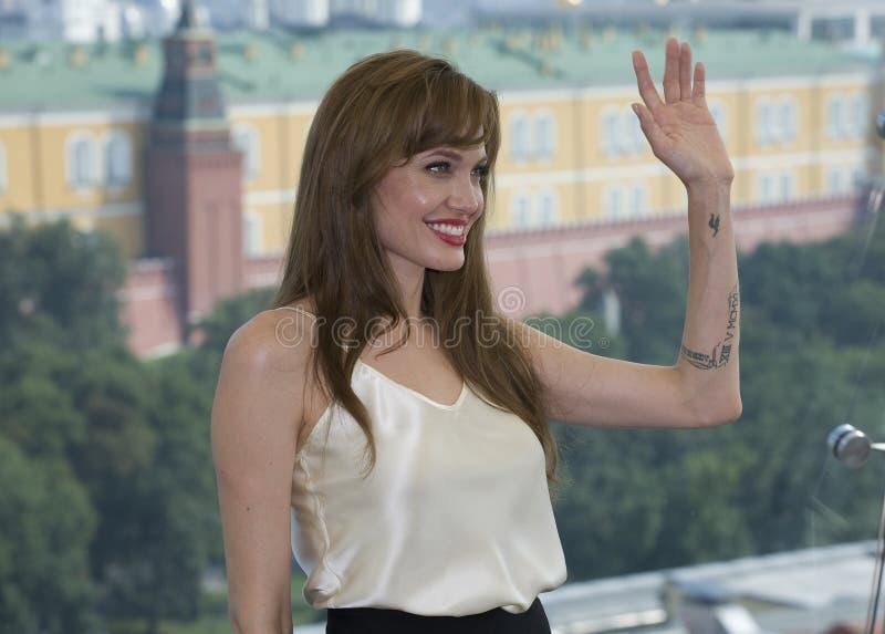 Actrice Angelina Jolie stock afbeeldingen