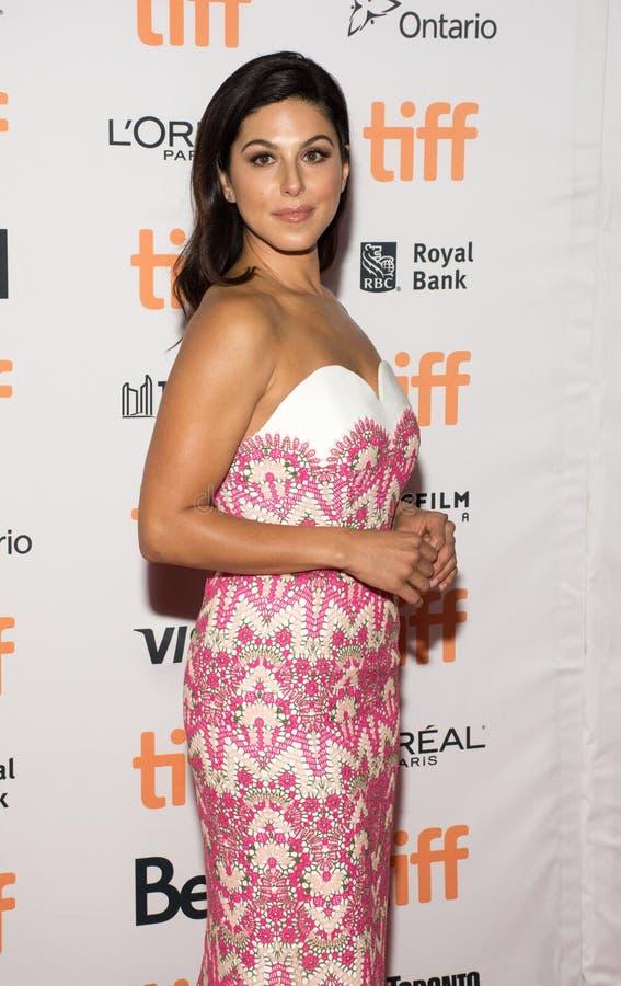 Actrice Cristina Rosato bij de `-moeder! ` première tijdens TIFF17 royalty-vrije stock afbeelding
