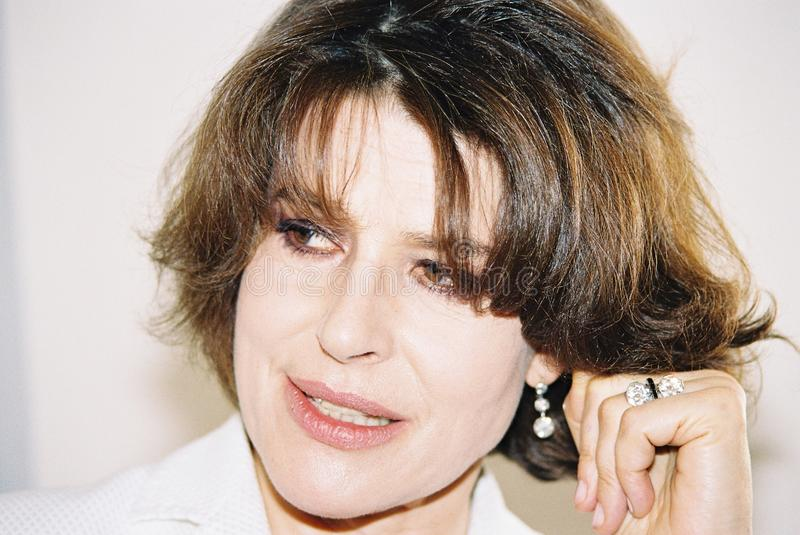 Actrice française Fanny Ardant images stock