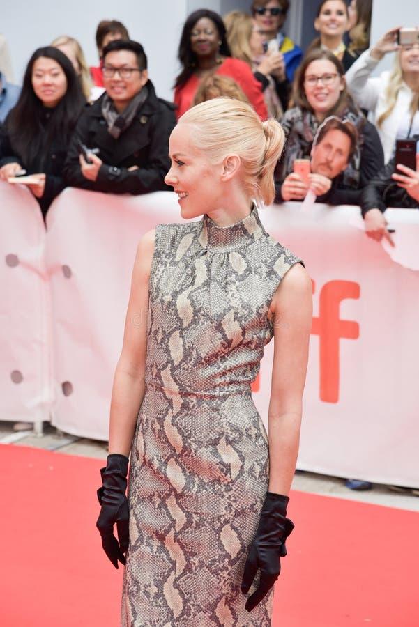 Actrice Jena Malone bij première van ` Openbare ` bij Internationaal de Filmfestival 2018 die van Toronto deze film met ot bevord royalty-vrije stock foto
