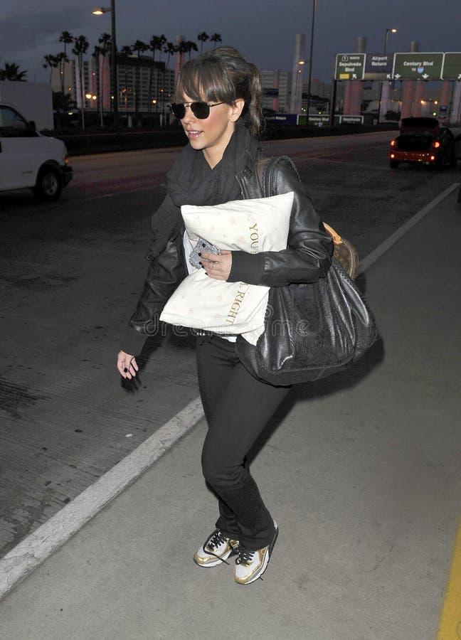 Actrice Jennifer Love Hewitt vue chez LAX image stock