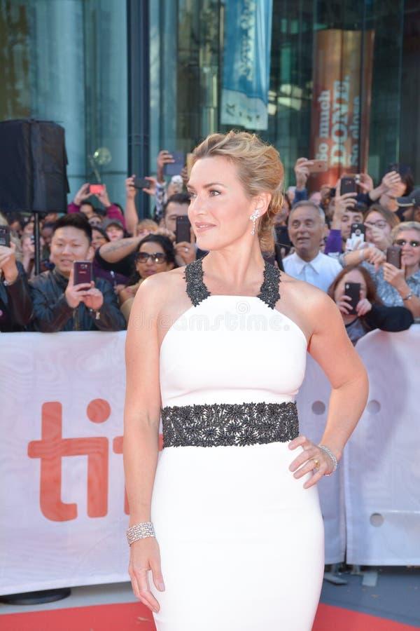 Actrice Kate Winslet bij ` de Bergpremière tijdens het Internationale de Filmfestival van Toronto van 2017 bij Prinses van het Th stock afbeelding