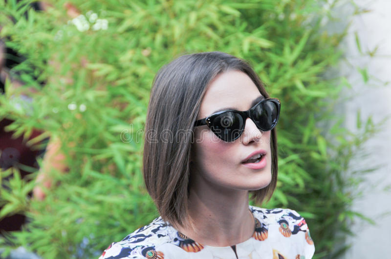 Actrice Keira Knightley royalty-vrije stock afbeelding