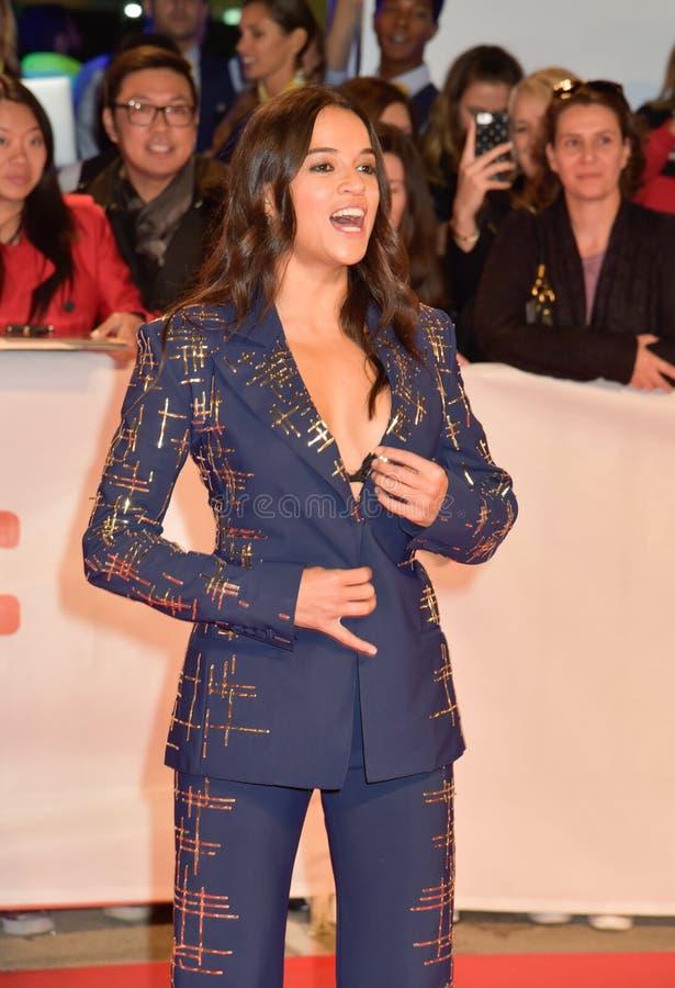 Actrice Michelle Rodriquez bij `-Weduwen` première in Toronto royalty-vrije stock foto
