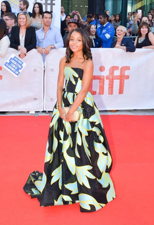 Actrice Rachel Hilson bij `-Koningen` première bij internationaal de filmfestival van Toronto in Toronto TIFF17 stock foto's