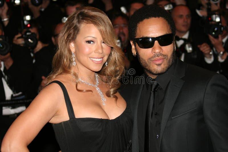 Actrice/zanger Mariah Carey & acteur/musicus Lenny royalty-vrije stock foto's