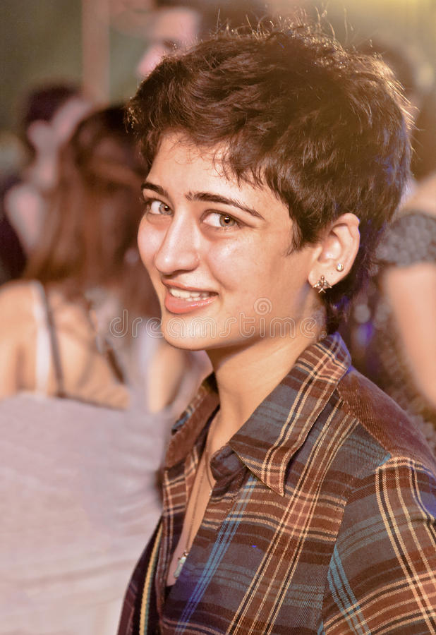 Actriz bonita do Indian da irmã de Akshara Hassan imagem de stock