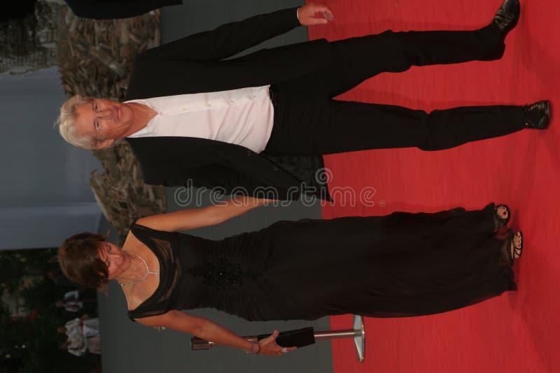 Actriz Carey Lowell y agente Richard Gere fotografía de archivo libre de regalías