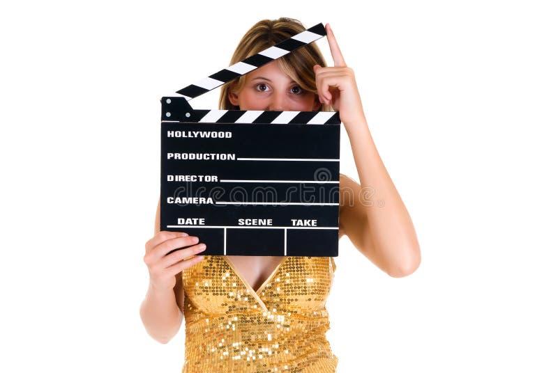 Actriz de la hembra de Hollywood foto de archivo