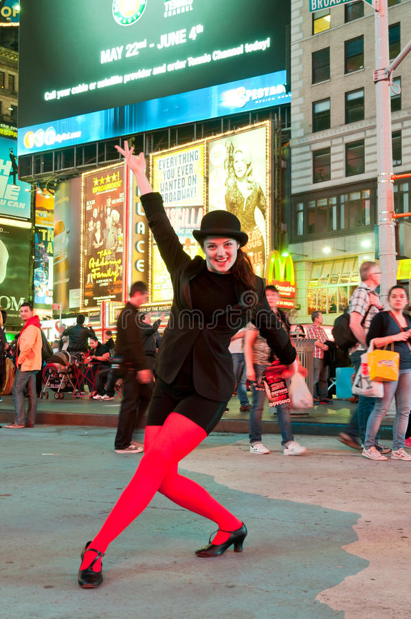 A actriz nova promove Chicago musical imagem de stock royalty free