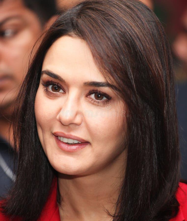 Actriz Preity Zinta de Bollywood fotos de archivo libres de regalías