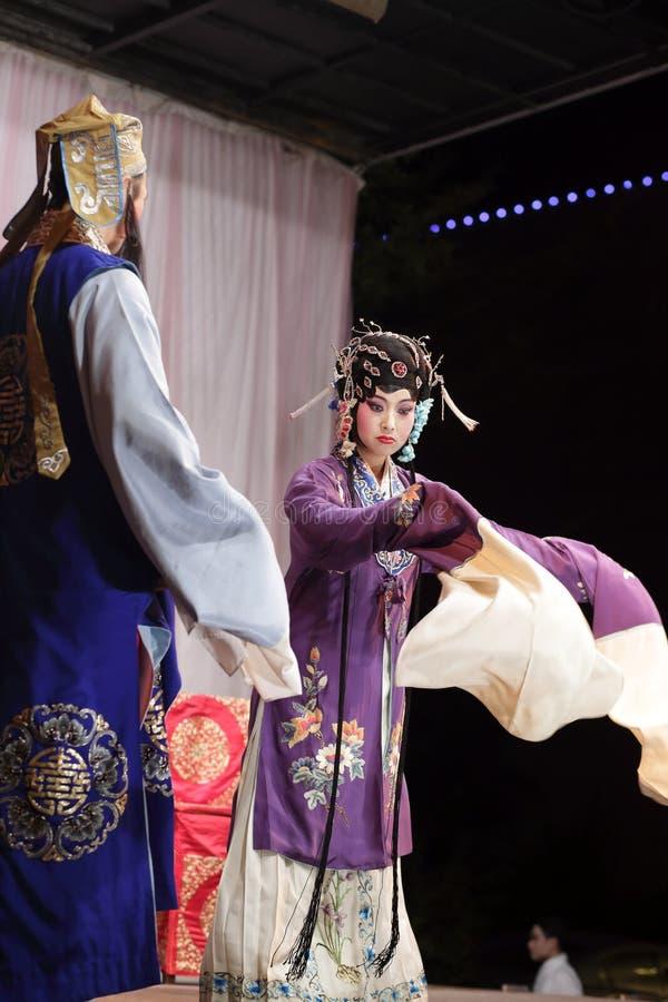 Actriz secundaria enojada, calmas jinyuliangyuan de la ópera taiwanesa fotografía de archivo