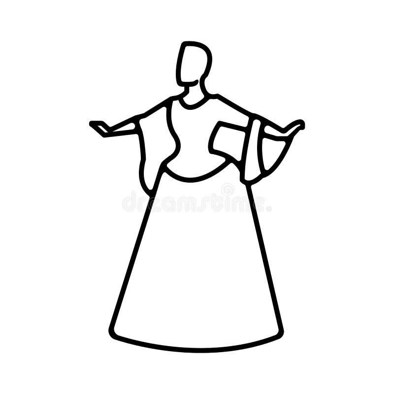 Actriz, teatro, mujer Icono del vector del ejemplo libre illustration