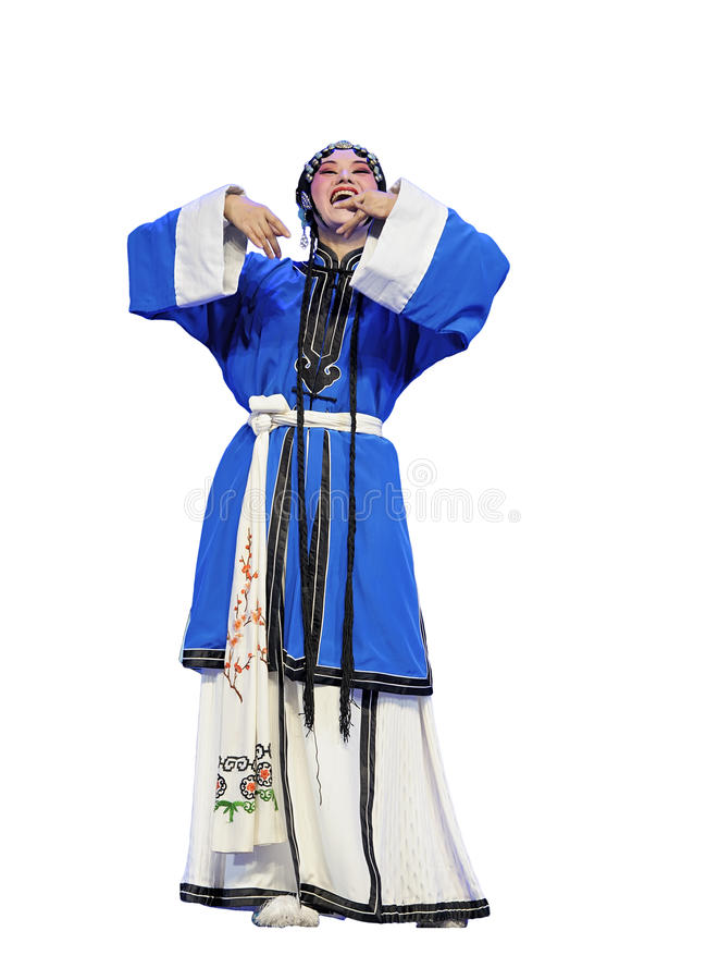 Actriz tradicional chinesa da ópera imagens de stock royalty free