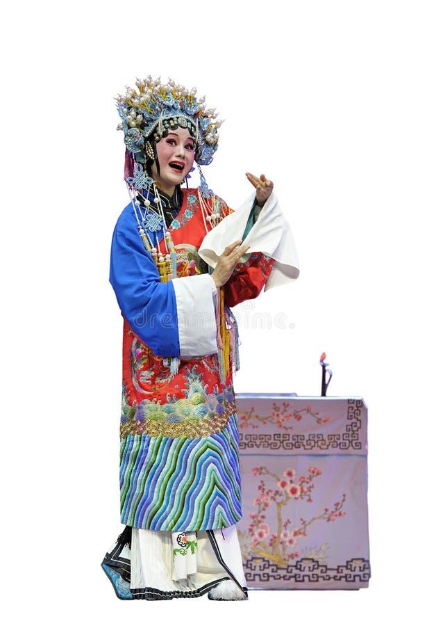 Actriz tradicional consideravelmente chinesa da ópera imagem de stock royalty free