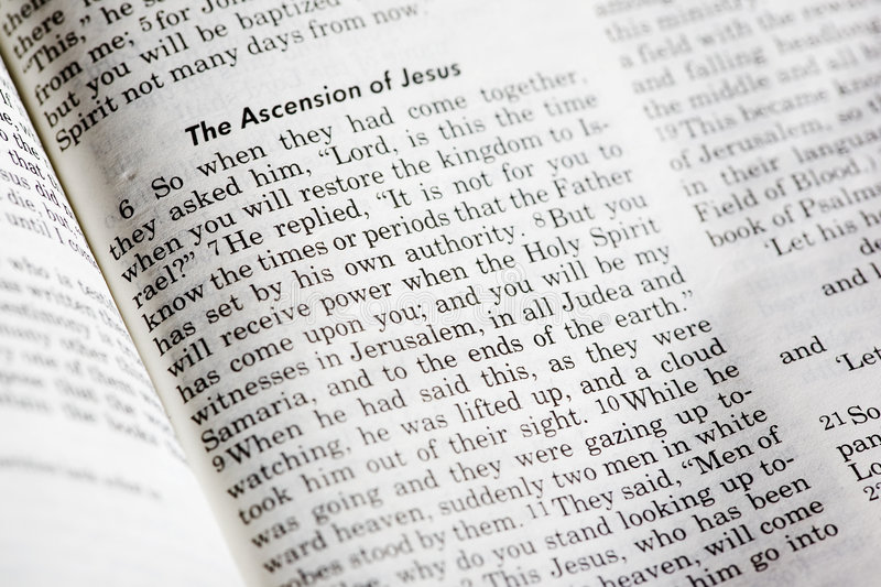 Acts 1:8. A popular passage in the Christian New Testament royalty free stock photo