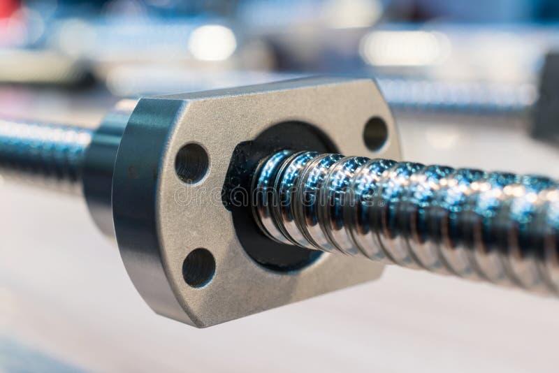 Actuador linear del bola-tornillo de la alta precisión para la máquina del CNC imagen de archivo