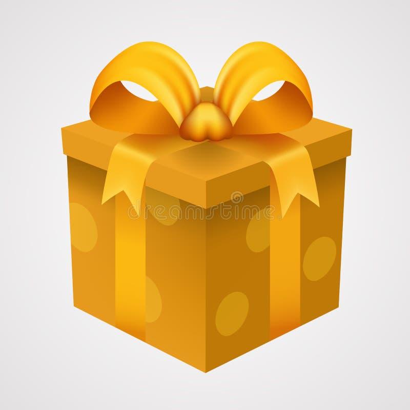 Download Actual Caja Amarilla Con La Cinta De Oro Ilustración del Vector - Ilustración de arqueamiento, aniversario: 100526163