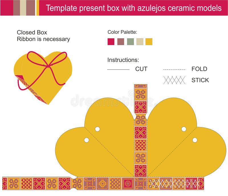 Actual caja de la plantilla libre illustration