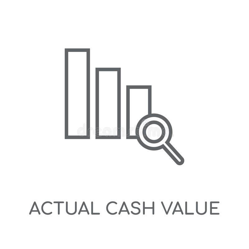 Actual Cash Value linear icon. Modern outline Actual Cash Value royalty free illustration
