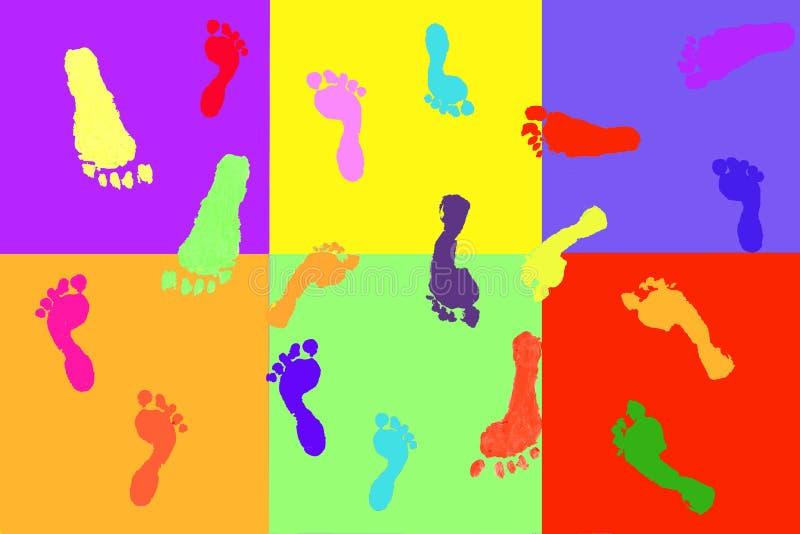 Download Actual Children's Footprints Stock Illustration - Image: 3553359