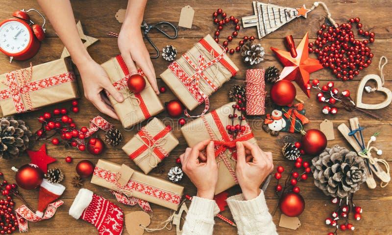Actual endecha del plano de Navidad, espacio para un texto del saludo imagen de archivo