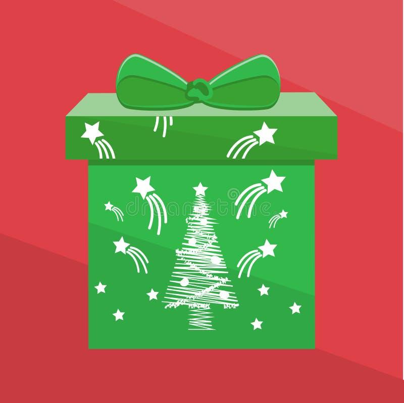 Actual fondo verde del rojo del jn de la caja fotos de archivo libres de regalías