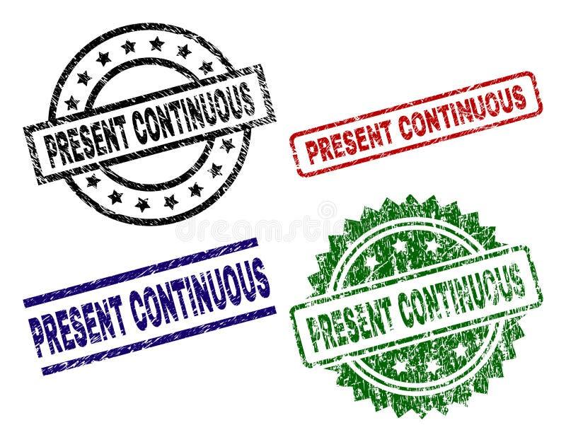 ACTUALES sellos CONTINUOS texturizados dañados del sello libre illustration