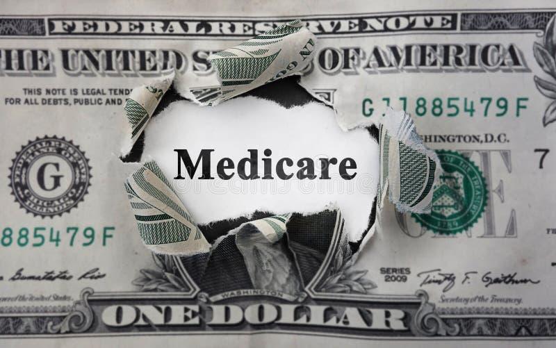 Actualités d'argent d'Assurance-maladie image stock