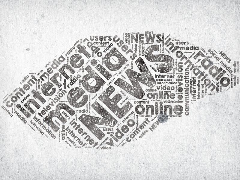 Actualités de media illustration libre de droits