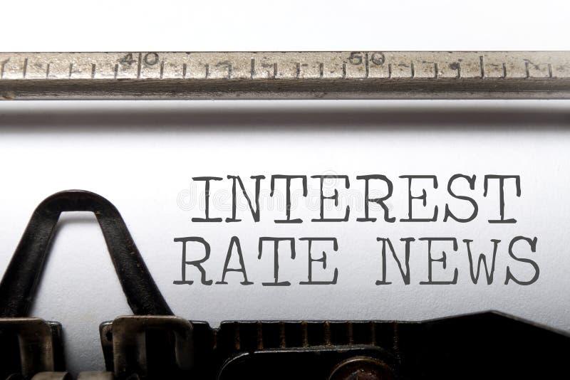 Actualités de taux d'intérêt image libre de droits