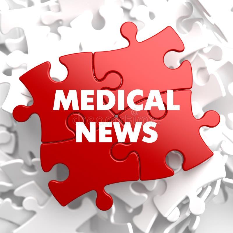 Actualités médicales sur le puzzle rouge illustration libre de droits