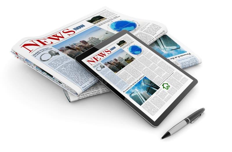 Actualités numériques quotidiennes illustration de vecteur