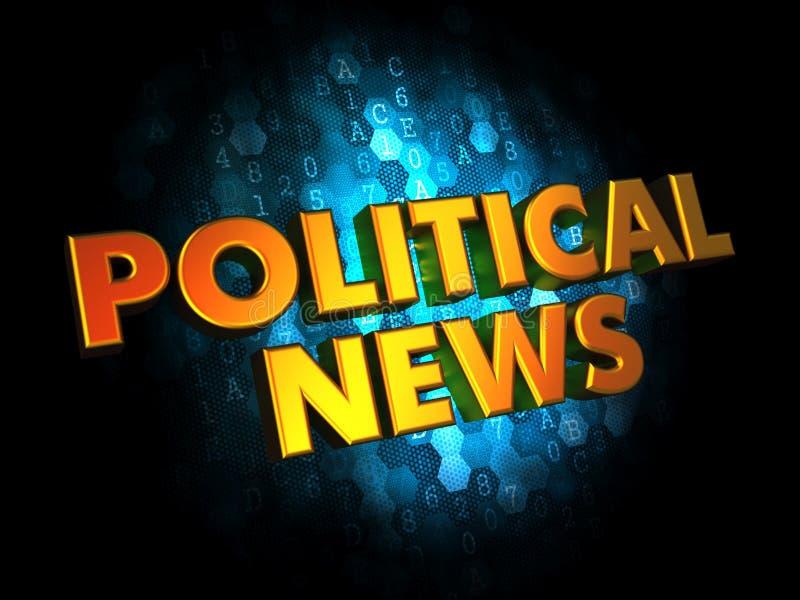 Actualités politiques - mots de l'or 3D illustration libre de droits