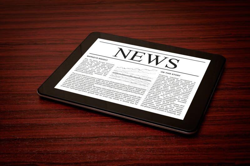 Actualités sur le comprimé numérique. photo libre de droits
