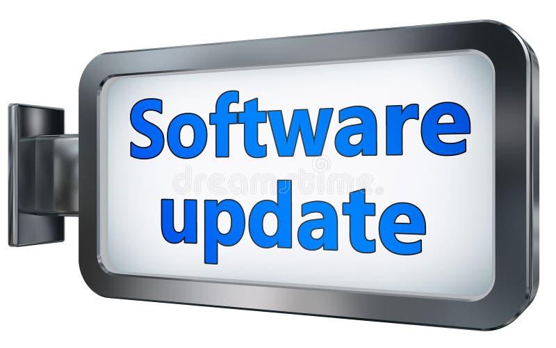Actualización de software en la cartelera stock de ilustración
